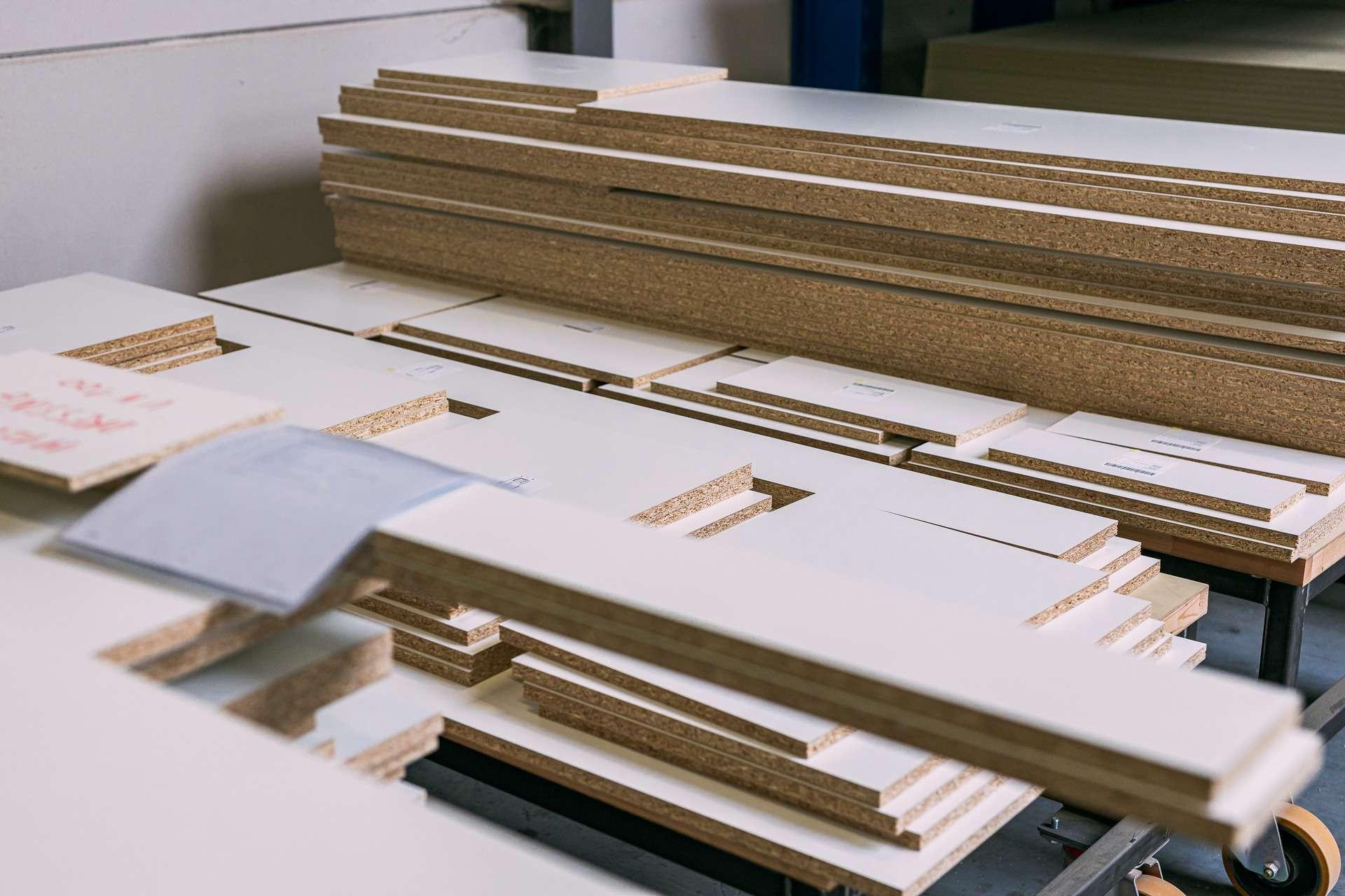 ATA Interieur - Productie - Flat packs klaar voor pick-up